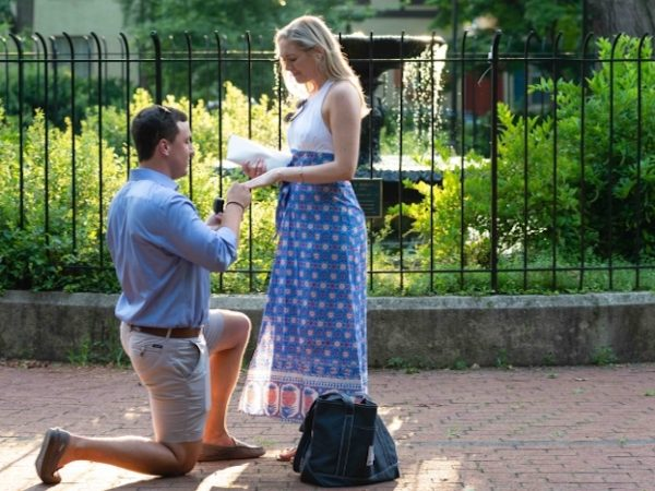 Just Engaged! A Surprise Proposal in Fitler Square