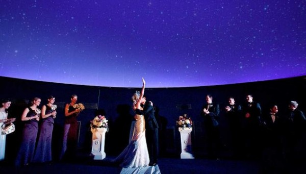 fels planetarium a stellar wedding ceremony at the