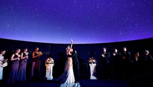 fels planetarium a stellar wedding ceremony at the