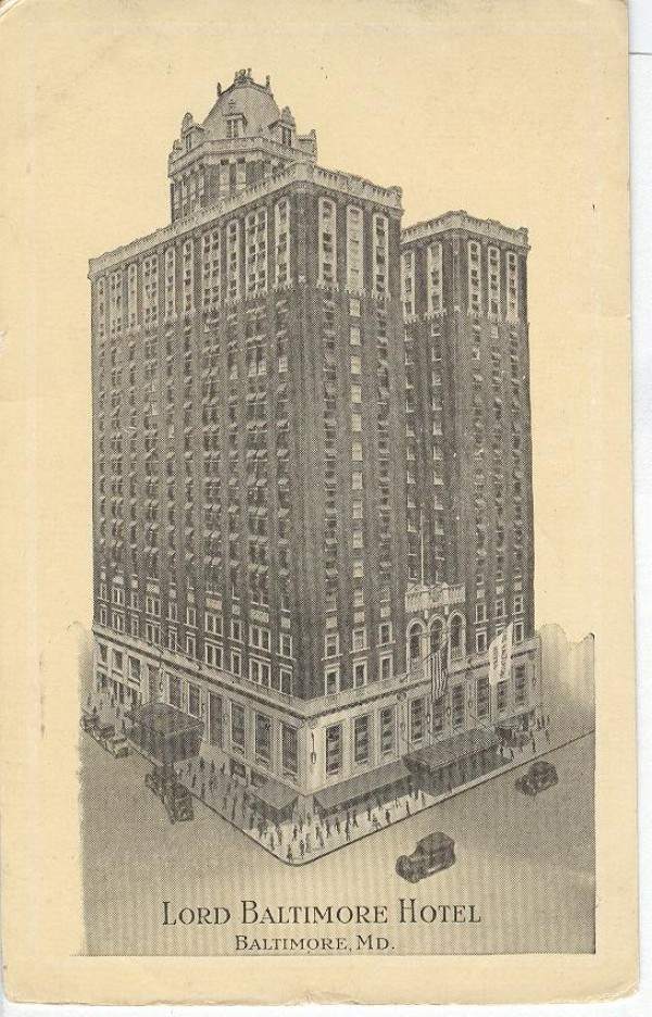 Lord baltimore hotel storied in history for your for Lord of baltimore hotel