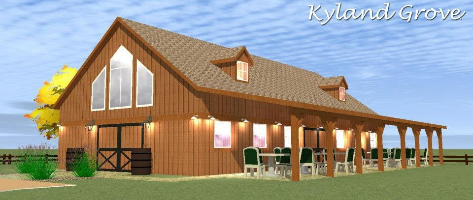 The barn at kyland grove partyspacecom for Backyard barns fruitland md